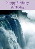 Happy Birthday - 92 Today - Option 1